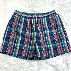 Polo Ralph Lauren Swim Trunks Plaid Board Shorts